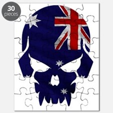 Australian Flag Skull Puzzle