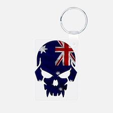 Australian Flag Skull Keychains