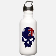 Australian Flag Skull Water Bottle