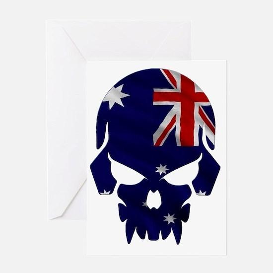 Australian Flag Skull Greeting Card
