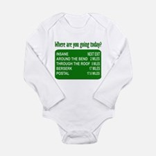 Where are you going today? Long Sleeve Infant Body