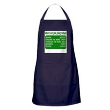 Where are you going today? Apron (dark)