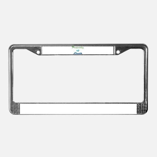 Property Of Lizeth Female License Plate Frame