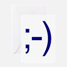 Internet Winkie Emoticon Greeting Card