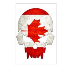Canadian Flag  Skull Postcards (Package of 8)