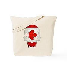Canadian Flag  Skull Tote Bag