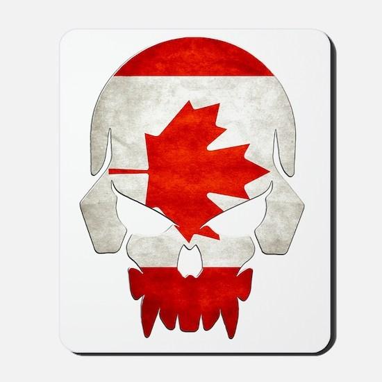 Canadian Flag  Skull Mousepad
