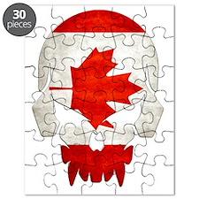 Canadian Flag  Skull Puzzle