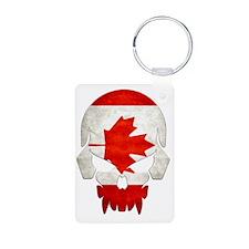 Canadian Flag  Skull Keychains