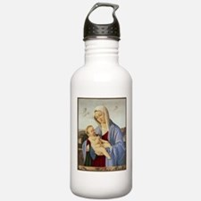 Vintage Painting of Madonna and Child Water Bottle
