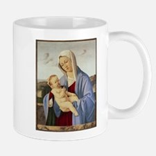 Vintage Painting of Madonna and Child Mugs
