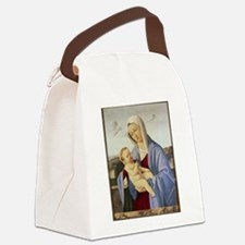 Vintage Painting of Madonna and Child Canvas Lunch
