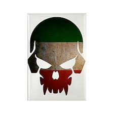 Irish Flag Skull Rectangle Magnet