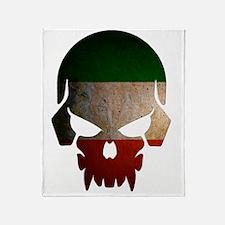 Irish Flag Skull Throw Blanket