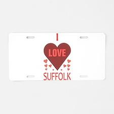 I LOVE SUFFOLK Aluminum License Plate