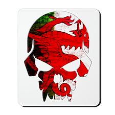 Welsh Flag Skull Mousepad