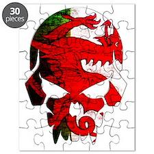 Welsh Flag Skull Puzzle