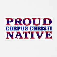 Corpus Christi Texas Native Aluminum License Plate