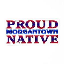 Morgantown WV Native Aluminum License Plate