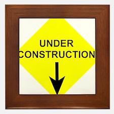 Under Construction Framed Tile
