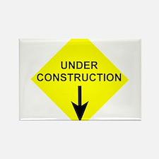Under Construction Rectangle Magnet