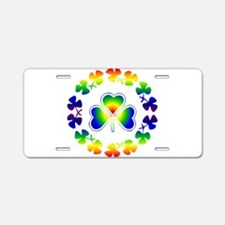 Clover Irish Rainbow Aluminum License Plate