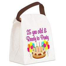 CELEBRATE 25 Canvas Lunch Bag
