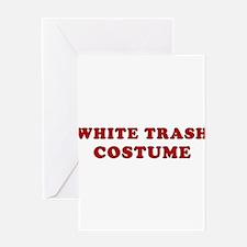 Halloween White Trash Costume Greeting Card