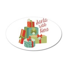 Santa Was Here Wall Decal