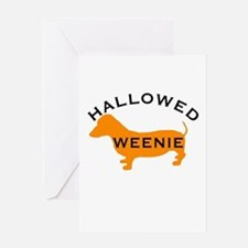 Halloween Hallowed Weenie Dac Greeting Card