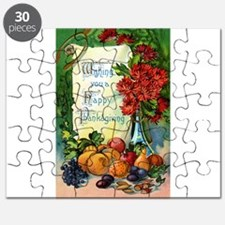 Thanksgiving Vintage Greeting Card Puzzle