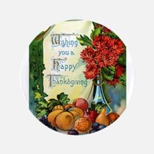 "Thanksgiving Vintage Greeting Card 3.5"" Button (10"