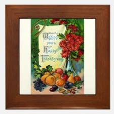 Thanksgiving Vintage Greeting Card Framed Tile