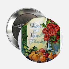 "Thanksgiving Vintage Greeting Card 2.25"" Button (1"
