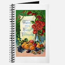 Thanksgiving Vintage Greeting Card Journal