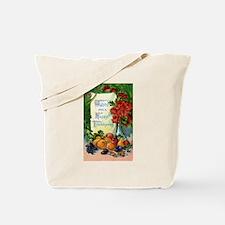 Thanksgiving Vintage Greeting Card Tote Bag