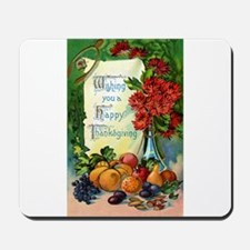 Thanksgiving Vintage Greeting Card Mousepad