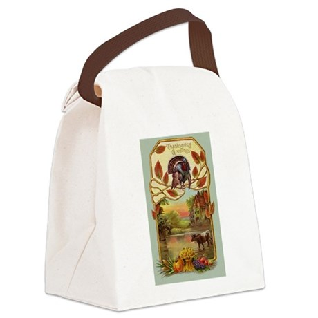Thanksgiving Greetings Canvas Lunch Bag