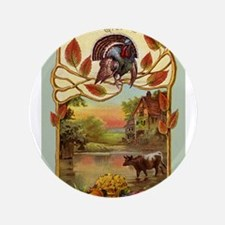 "Thanksgiving Greetings 3.5"" Button (100 pack)"
