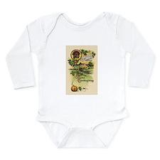 Vintage Thanksgiving Card Long Sleeve Infant Bodys