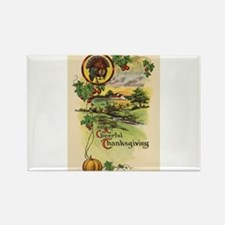 Vintage Thanksgiving Card Rectangle Magnet (10 pac