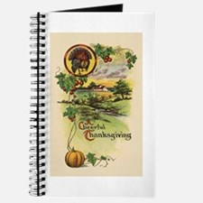 Vintage Thanksgiving Card Journal