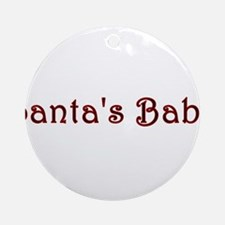 Santas Baby in Red Ornament (Round)