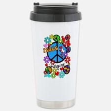 Imagine Peace Symbols Thermos Mug