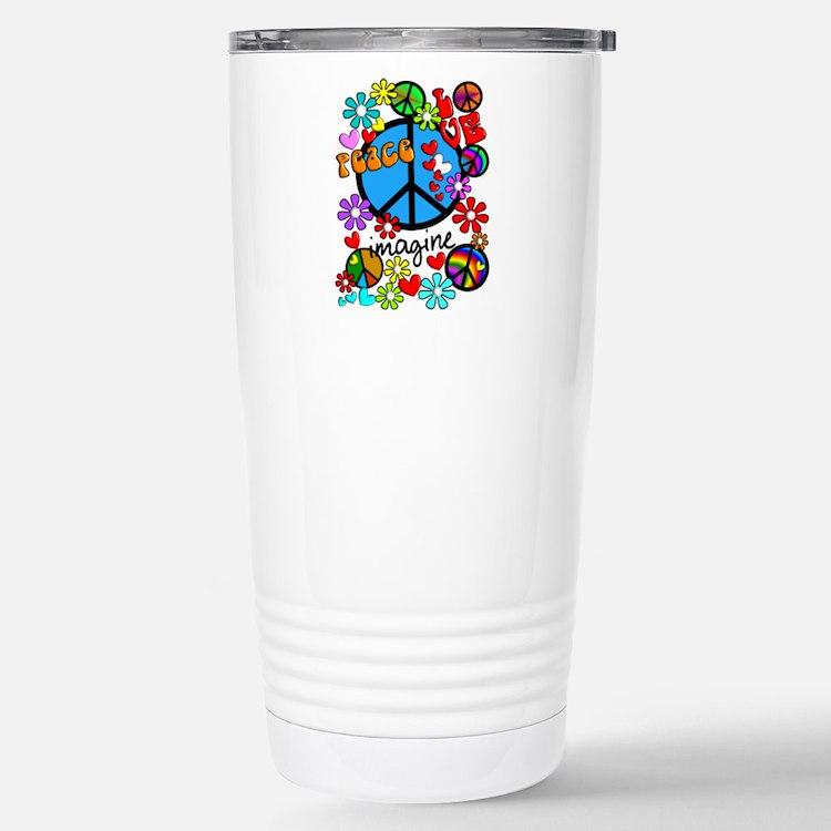 Imagine Peace Symbols Thermos Mug