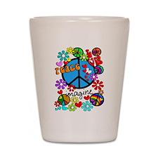 Imagine Peace Symbols Shot Glass