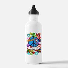 Imagine Peace Symbols Water Bottle