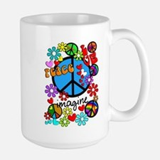 Imagine Peace Symbols Mug