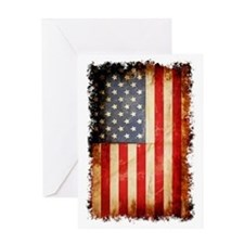 Distressed American flag Greeting Card