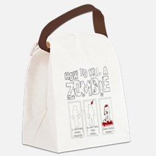 How to kill a Zombie Canvas Lunch Bag